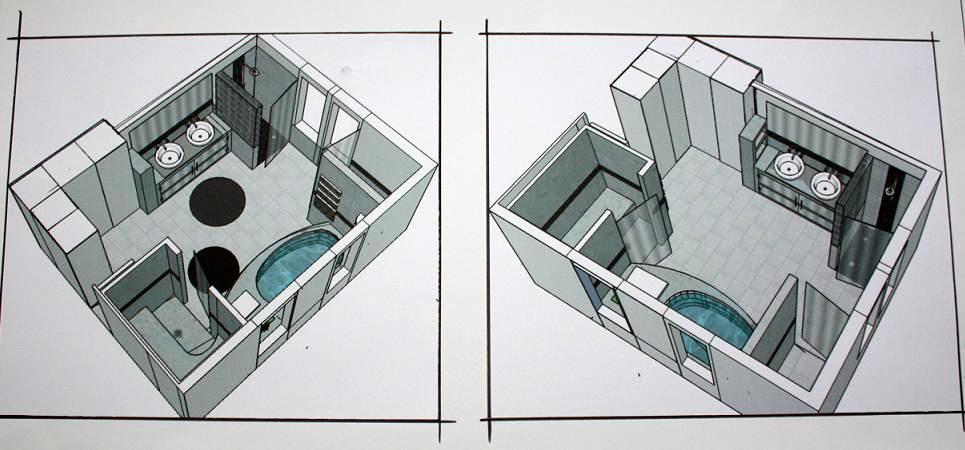 Projets for Suite parentale avec salle de bain 3d